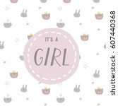 It's A Girl Card Design
