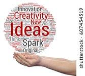 concept or conceptual creative... | Shutterstock . vector #607454519