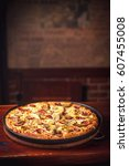 Small photo of Pizza with background for your text