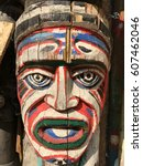Authentic Painted Wooden Totem...
