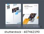 business vector template.... | Shutterstock .eps vector #607462190