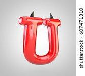 Red Devil Letter U Uppercase...
