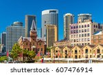 old warehouses at campbell's...   Shutterstock . vector #607476914