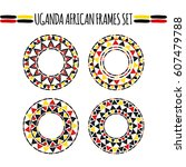 tribal round frames collection... | Shutterstock .eps vector #607479788