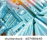 equipment  cables and piping as ... | Shutterstock . vector #607480640