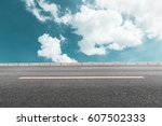 asphalt road and blue sky   Shutterstock . vector #607502333