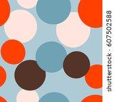 seamless dots pattern. vector...   Shutterstock .eps vector #607502588