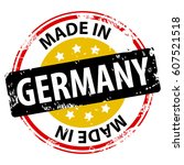 made in the germany rubber... | Shutterstock .eps vector #607521518