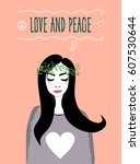 Ard Love And Peace. Vector Fo...