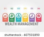 wealth management infographic... | Shutterstock .eps vector #607531850