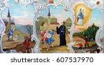 krapina  croatia   april 21 ... | Shutterstock . vector #607537970