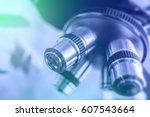 laboratory equipment   optical... | Shutterstock . vector #607543664