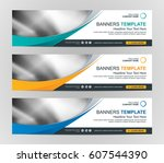 abstract web banner design... | Shutterstock .eps vector #607544390