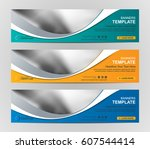 abstract web banner design... | Shutterstock .eps vector #607544414