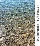Small photo of Croatia Mediterranean Sea Adriatic Sea Blue Crystal Clear Water Stone Beach Shingle Beach