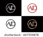ad text logo | Shutterstock .eps vector #607554878