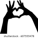 Silhouette Vector Of Hands...