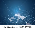 internet connection  abstract... | Shutterstock .eps vector #607555718