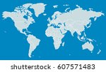 blue world map | Shutterstock .eps vector #607571483