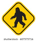 Stock vector vector bigfoot sign isolated background 607575716