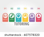 tutoring infographic icons | Shutterstock .eps vector #607578320