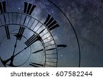time and space concept. time... | Shutterstock . vector #607582244