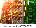 bnc connector and coaxial cable ... | Shutterstock . vector #607583576