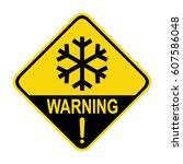 cold warning sign  symbol ... | Shutterstock .eps vector #607586048