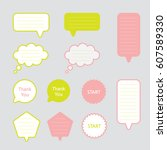 text box speech bubble vector... | Shutterstock .eps vector #607589330