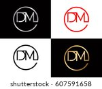dm text logo