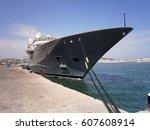 luxury yacht | Shutterstock . vector #607608914