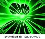 bright glowing abstract... | Shutterstock . vector #607609478