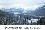 banff mountain  | Shutterstock . vector #607621100