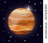 jupiter planet solar system... | Shutterstock .eps vector #607626383