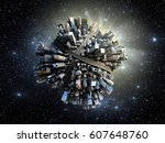 megalopolis aerial view 3d... | Shutterstock . vector #607648760