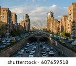 famous view in tehran iran   Shutterstock . vector #607659518