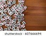 White Green Tiles For Mahjong...