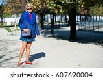 paris october 1  2015. italian... | Shutterstock . vector #607690004