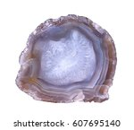 a cross section of the agate... | Shutterstock . vector #607695140