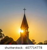 The Silhouette Of The Cross An...