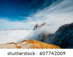 view from seceda  odle... | Shutterstock . vector #607742009