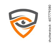 security eye logo template | Shutterstock .eps vector #607779380
