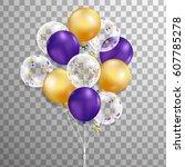 3d  holiday illustration bunch...   Shutterstock . vector #607785278