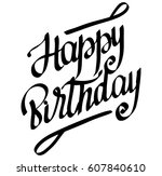 happy birthday | Shutterstock .eps vector #607840610