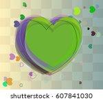 valentine art elements   Shutterstock .eps vector #607841030