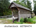 Old Wooden Covered Bridge In...