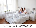 people  family and morning... | Shutterstock . vector #607846160