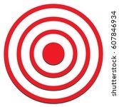 target icon on white background.... | Shutterstock .eps vector #607846934