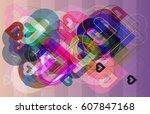 valentine idea template   Shutterstock .eps vector #607847168