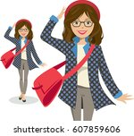 Young  Smiling Woman Carrying ...